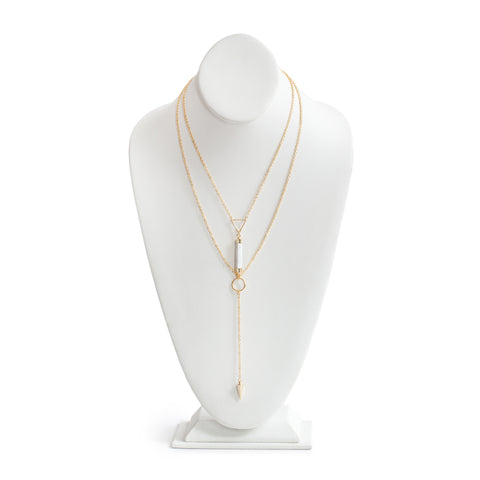 Eden by Sight Howlite Lariat Necklace