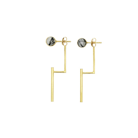 Eden by Sight Half Band Earrings (Gold)