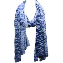 Ripple Indigo Dyed Long Scarf
