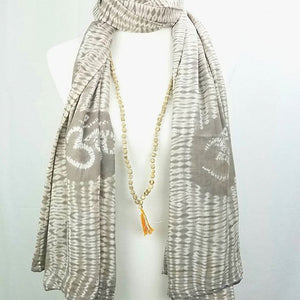 Tulsi OM prayer shawl