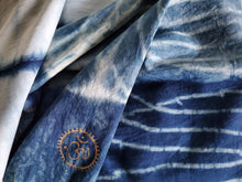 Eternity Hand dyed Indigo Blue Cotton Scarf with OM symbol