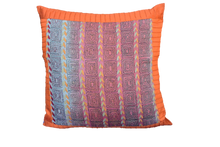 Embroidered Recycled Vintage Zari Kantha Holiday Pillow case