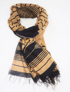 One of a kind Handwoven Black and gold Silk Shawl - Limited Edition