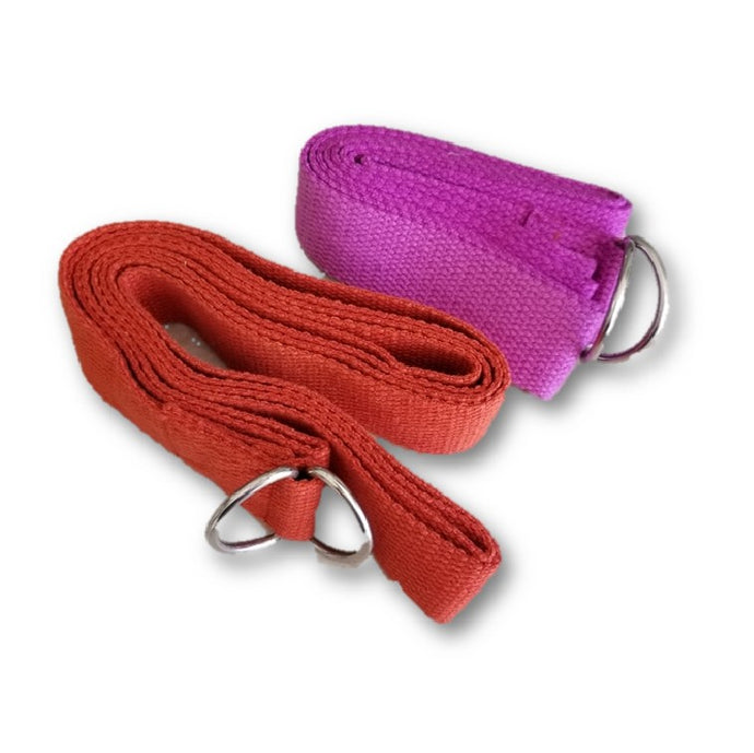 OMSutra Yoga Strap - D Ring (Regular) 8' - Deluxe