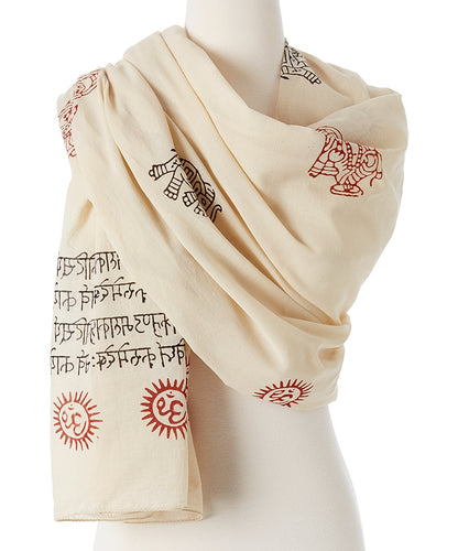 Mantra Prayer Shawl - Ganesh Mantra