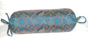 Yoga relaxation Silk Neck Pillow - Paisley Design