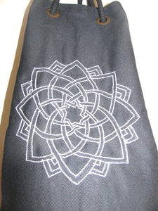 OMSutra  Kids Mandala Yoga  Mat Bag with Saree Lace