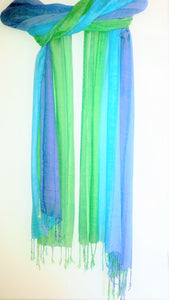 Hand Painted luxury Chakra scarf