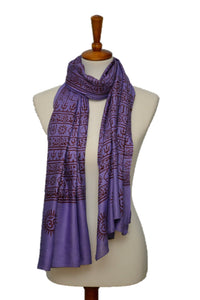 OM Hindu Yoga Meditation Prayer Shawl - Large Color Base