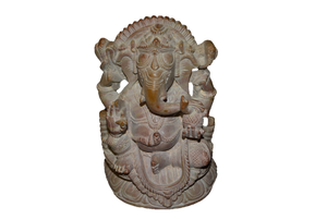 Handcarved Sculpture Soapstone Elephant Head God Ganesha - Small