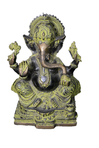 Ganesha Statue - Brass Statue of Hindu God Elephant head Lord Ganesha for Your sacred space