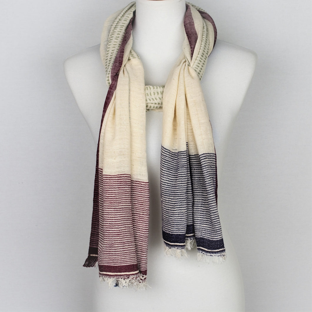 Multi Pattern Handloomed Scarf