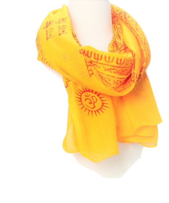 OMSutra OM  Hindu Prayer Shawl - Small -Color Base