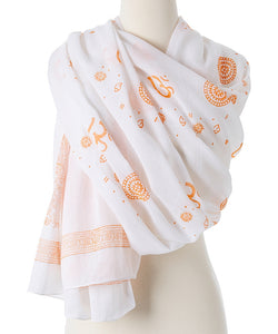 OM Shanti Meditation Yoga Prayer Shawl