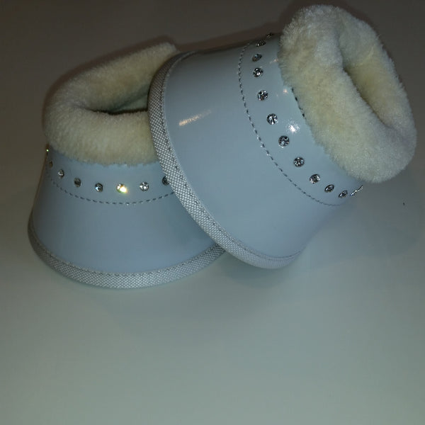 Over-reach boots with crystals pony and cob size