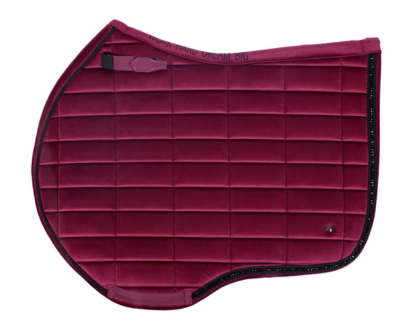 Astana burgundy AP saddle pad pony size
