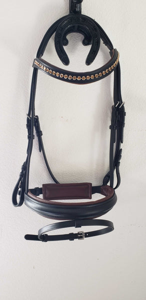 Black with brown Stallmeister Dobert Pony Cob Bridle