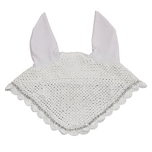White Bling Ear Net Cob and Pony Size