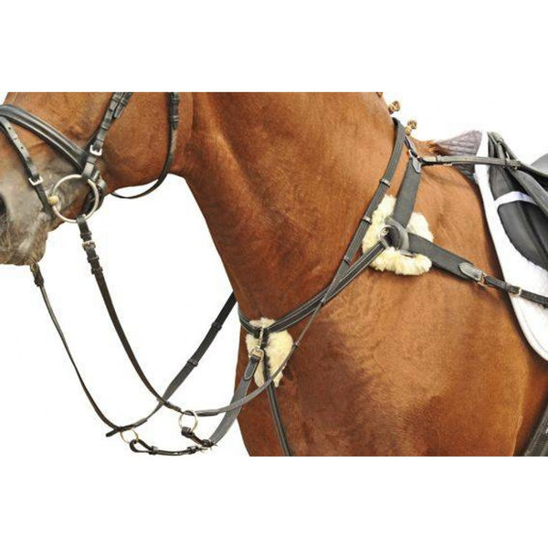 Breastplate and martingale HKM Cob and pony size