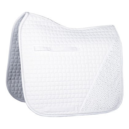 White Crystal Dressage Saddlepad for pony or cob