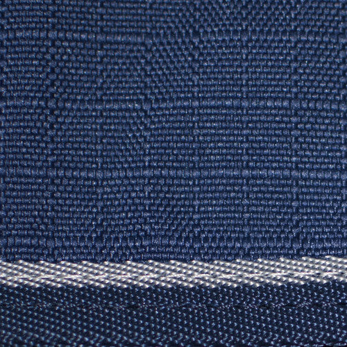 Midweight pony blanket navy with silver trim