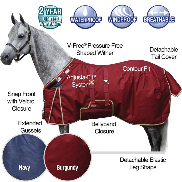 Schneiders Storm Shield Turnout Blanket Size 70 and 72