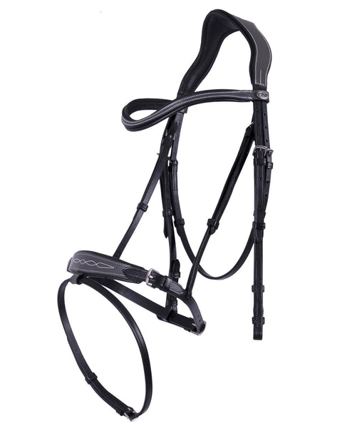 Shiva Bridle Black and Grey Cob and pony  Size