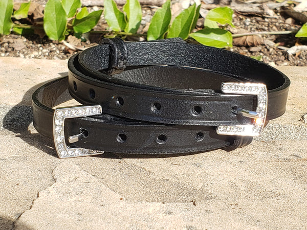 Spur Straps with rhinestones