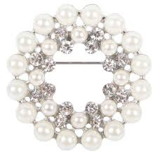Round pearl stock pin