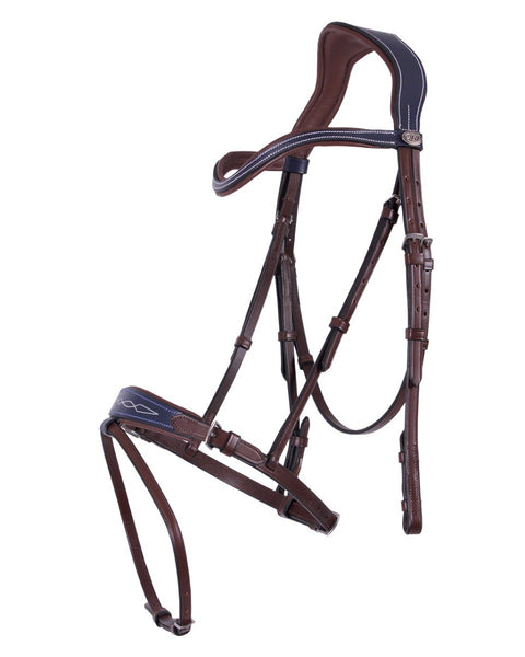Shiva Bridle Brown and Navy Cob Size