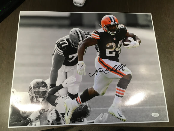 16X20 NICK CHUBB SIGNED PHOTO - JSA WITNESS COA