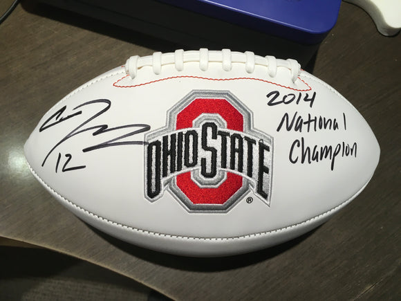 CARDALE JONES SIGNED OHIO STATE FOOTBALL