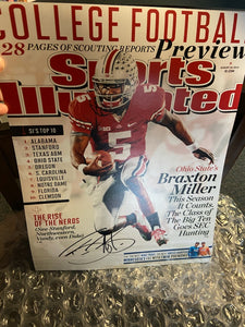 BRAXTON MILLER SIGNED 11X14 SI COVER PHOTO