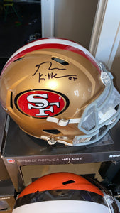 GEORGE KITTLE AUTOGRAPHED  49ERS SPEED FULL SIZE REPLICA HELMET
