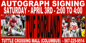 TUF BORLAND AUTOGRAPH TICKET - 4/3 - TUTTLE STORE   (IN STORE- MAIL INS OR DROP OFFS)