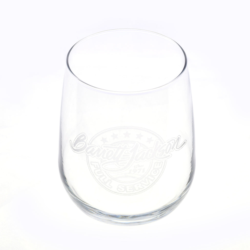 Full Service Etched Wine Glass