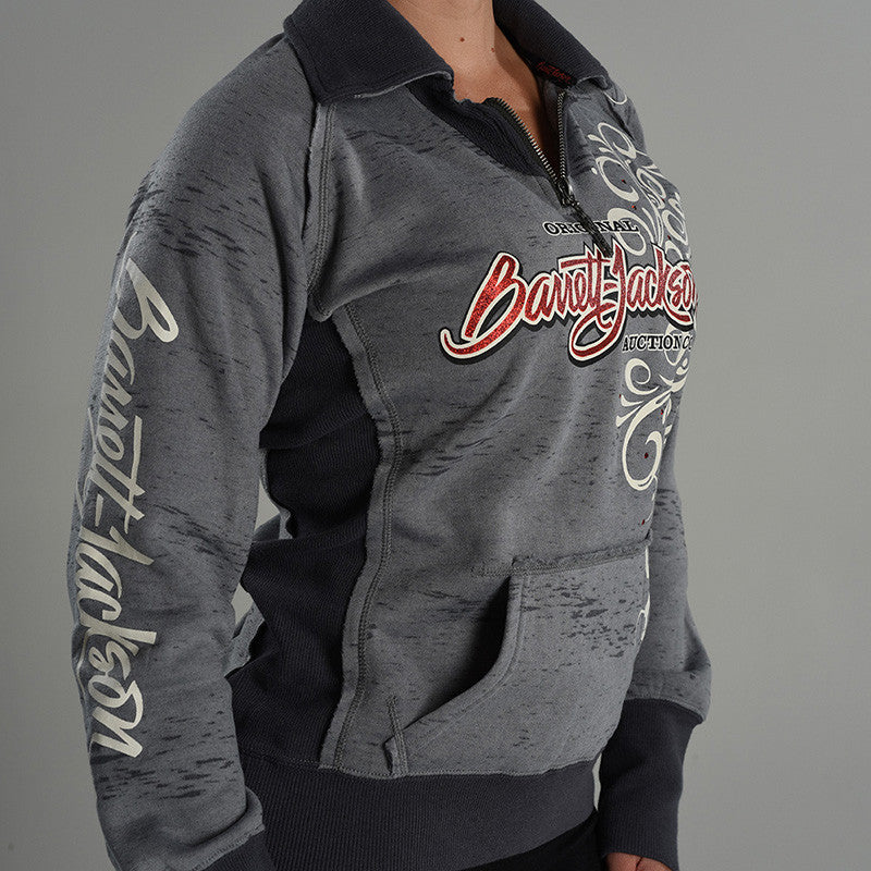 Burn Out Pullover with Cadet Collar