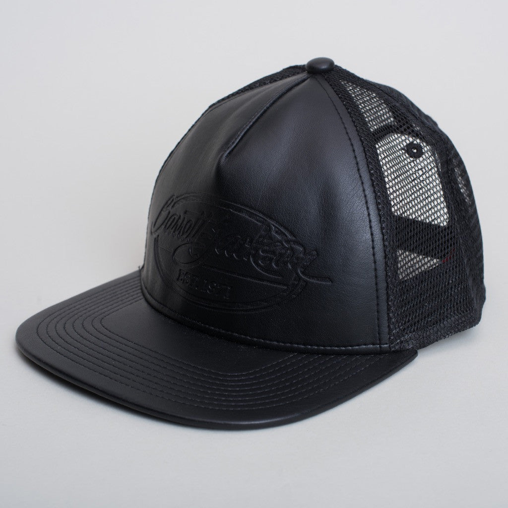 Leather Debossed Hat