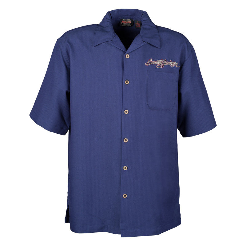 Blue Camp Shirt with Breast Logo - Signature