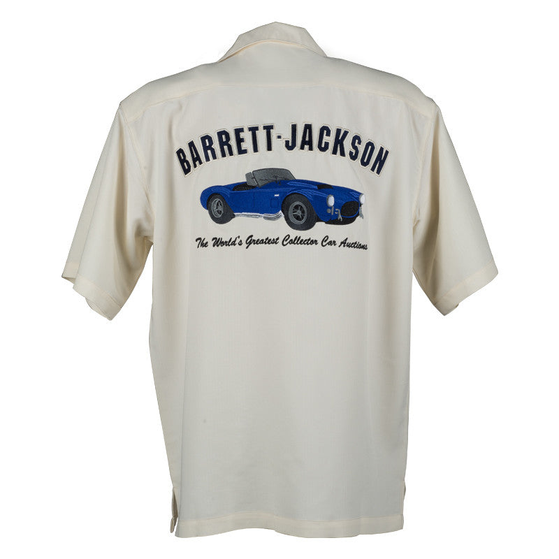 Blue Sports Car Camp Shirt