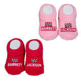 Baby Booties - Red/Pink