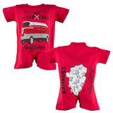 Futurwhiner Red Infant Romper