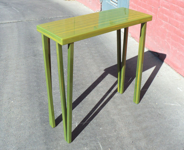 chartreuse yellow table