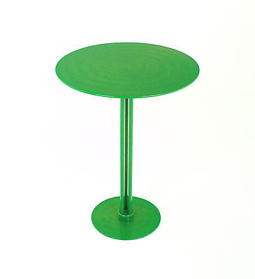 Dark Lime Green Round Steel Side Table, A Beautiful Bold Home Accent