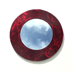Steel Accent Mirror Red with Blue and Black Specs