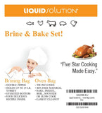 XL Brining Bag/Oven Bag combo Perfect for Turkey