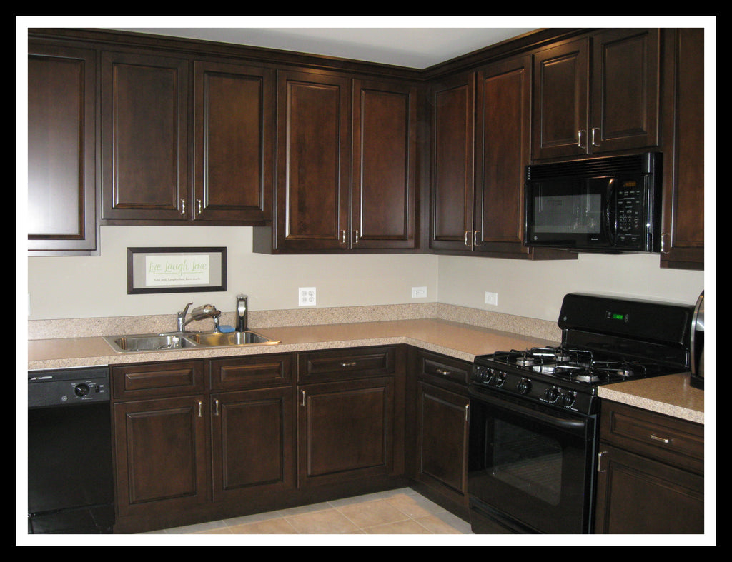 Solid plywood kitchen cabinets - Kitchen Example In Alex Java Solid Plywood Rta Cabinet Specifications