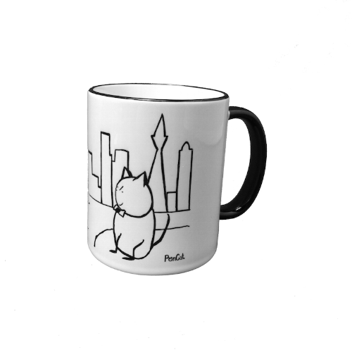 Coffee Mug: PonCat visits San Francisco