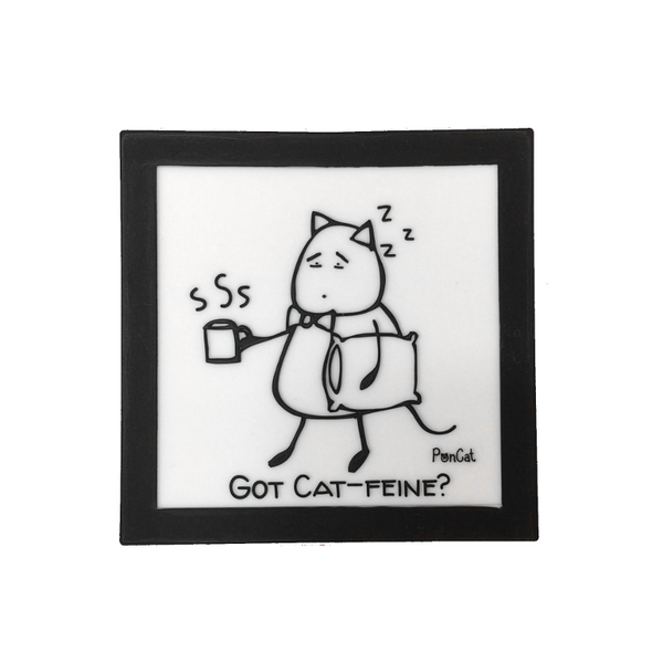 Sleepy PonCat Silicone Coaster
