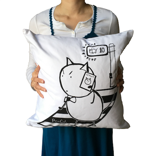 PonCat's New Phone Throw Pillow
